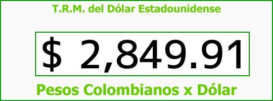 T.R.M. del Dólar para hoy Martes 27 de Febrero de 2018