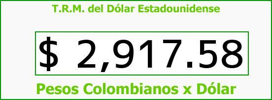 T.R.M. del Dólar para hoy Martes 27 de Septiembre de 2016