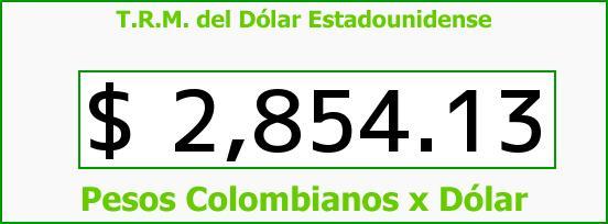 T.R.M. del Dólar para hoy Martes 28 de Julio de 2015