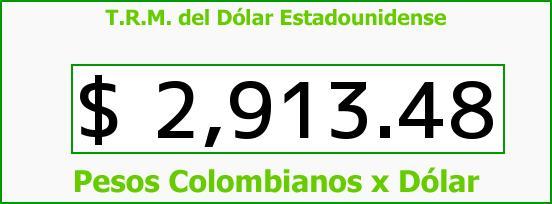 T.R.M. del Dólar para hoy Martes 28 de Marzo de 2017