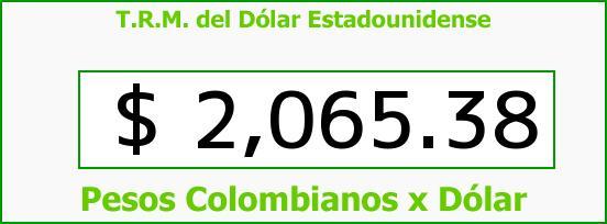 T.R.M. del Dólar para hoy Martes 28 de Octubre de 2014
