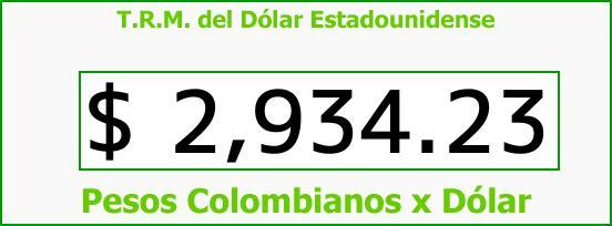 T.R.M. del Dólar para hoy Martes 29 de Agosto de 2017