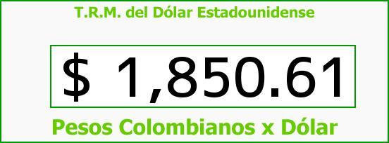 T.R.M. del Dólar para hoy Martes 29 de Julio de 2014