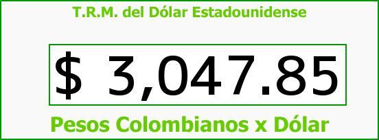 T.R.M. del Dólar para hoy Martes 29 de Marzo de 2016