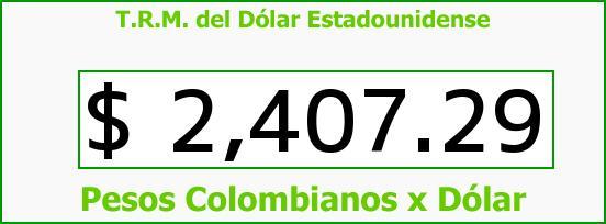 T.R.M. del Dólar para hoy Martes 3 de Febrero de 2015