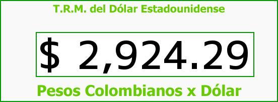 T.R.M. del Dólar para hoy Martes 30 de Agosto de 2016