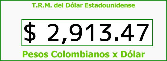 T.R.M. del Dólar para hoy Martes 30 de Mayo de 2017
