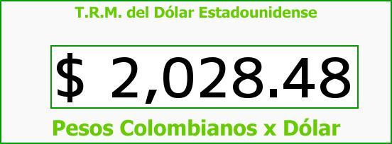 T.R.M. del Dólar para hoy Martes 30 de Septiembre de 2014