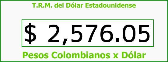 T.R.M. del Dólar para hoy Martes 31 de Marzo de 2015
