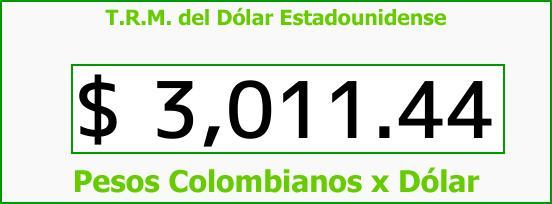 T.R.M. del Dólar para hoy Martes 31 de Octubre de 2017