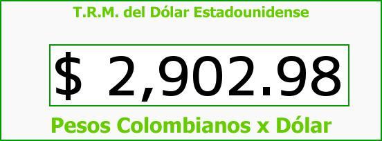 T.R.M. del Dólar para hoy Martes 4 de Agosto de 2015