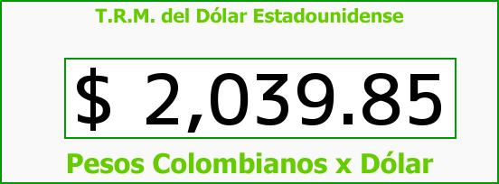 T.R.M. del Dólar para hoy Martes 4 de Febrero de 2014