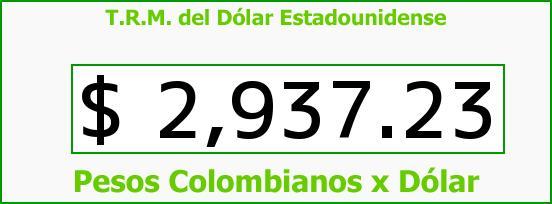 T.R.M. del Dólar para hoy Martes 4 de Octubre de 2016