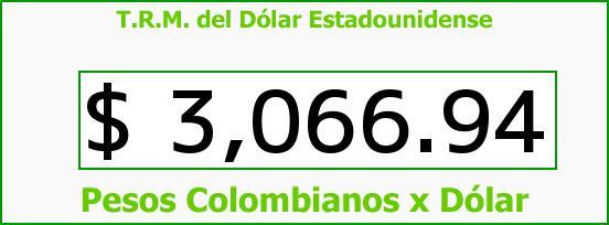 T.R.M. del Dólar para hoy Martes 5 de Abril de 2016