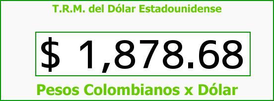 T.R.M. del Dólar para hoy Martes 5 de Agosto de 2014