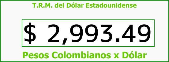 T.R.M. del Dólar para hoy Martes 5 de Diciembre de 2017