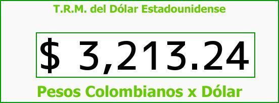 T.R.M. del Dólar para hoy Martes 5 de Enero de 2016