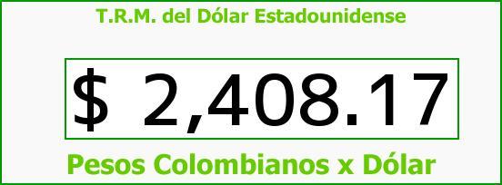 T.R.M. del Dólar para hoy Martes 5 de Mayo de 2015