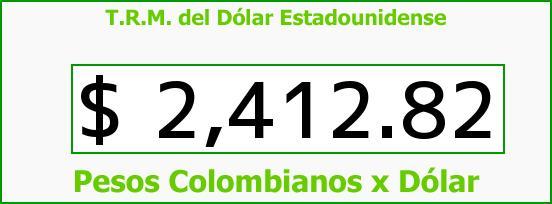 T.R.M. del Dólar para hoy Martes 6 de Enero de 2015
