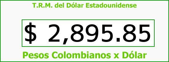 T.R.M. del Dólar para hoy Martes 6 de Junio de 2017