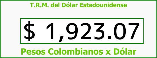 T.R.M. del Dólar para hoy Martes 6 de Mayo de 2014