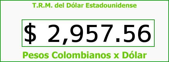 T.R.M. del Dólar para hoy Martes 6 de Septiembre de 2016