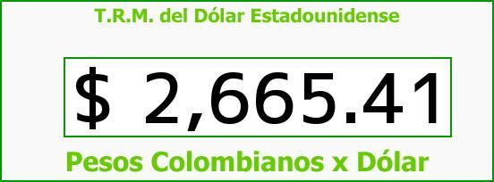 T.R.M. del Dólar para hoy Martes 7 de Julio de 2015