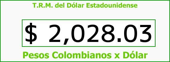 T.R.M. del Dólar para hoy Martes 7 de Octubre de 2014