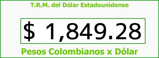 T.R.M. del Dólar para hoy Martes 8 de Julio de 2014