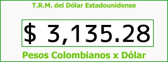 T.R.M. del Dólar para hoy Martes 8 de Marzo de 2016