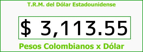 T.R.M. del Dólar para hoy Martes 8 de Septiembre de 2015