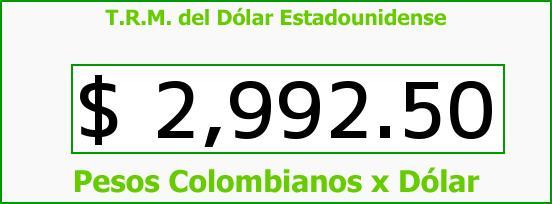 T.R.M. del Dólar para hoy Martes 9 de Agosto de 2016