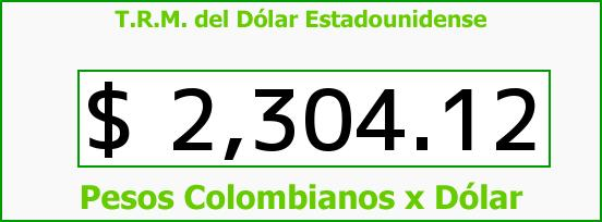 T.R.M. del Dólar para hoy Martes 9 de Diciembre de 2014