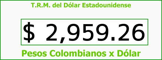 T.R.M. del Dólar para hoy Martes 9 de Mayo de 2017