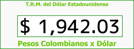 T.R.M. del Dólar para hoy Martes 9 de Septiembre de 2014