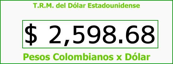 T.R.M. del Dólar para hoy Miércoles 1 de Julio de 2015