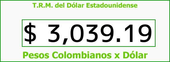 T.R.M. del Dólar para hoy Miércoles 1 de Noviembre de 2017