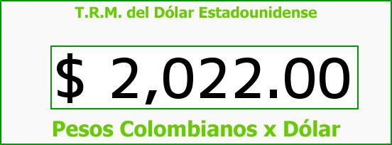 T.R.M. del Dólar para hoy Miércoles 1 de Octubre de 2014