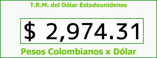 T.R.M. del Dólar para hoy Miércoles 10 de Agosto de 2016