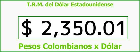 T.R.M. del Dólar para hoy Miércoles 10 de Diciembre de 2014