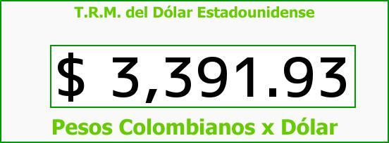 T.R.M. del Dólar para hoy Miércoles 10 de Febrero de 2016