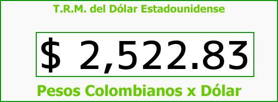 T.R.M. del Dólar para hoy Miércoles 10 de Junio de 2015