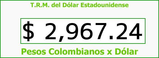T.R.M. del Dólar para hoy Miércoles 10 de Mayo de 2017