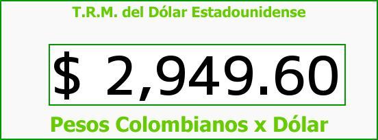 T.R.M. del Dólar para hoy Miércoles 11 de Enero de 2017