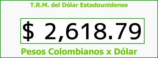T.R.M. del Dólar para hoy Miércoles 11 de Marzo de 2015