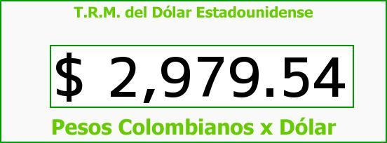T.R.M. del Dólar para hoy Miércoles 11 de Mayo de 2016
