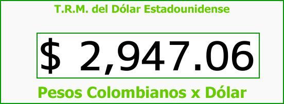T.R.M. del Dólar para hoy Miércoles 11 de Octubre de 2017