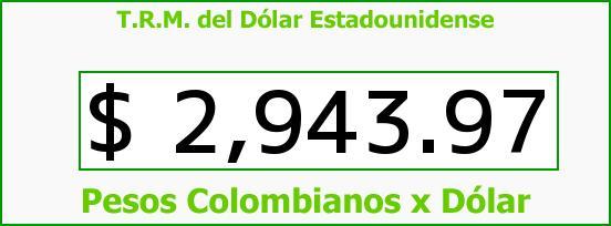 T.R.M. del Dólar para hoy Miércoles 12 de Agosto de 2015
