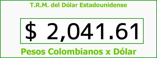 T.R.M. del Dólar para hoy Miércoles 12 de Febrero de 2014