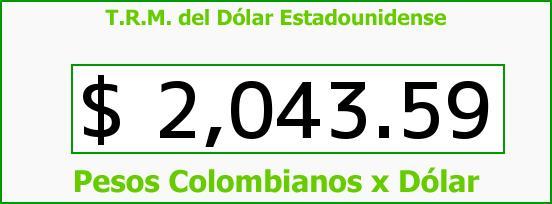 T.R.M. del Dólar para hoy Miércoles 12 de Marzo de 2014